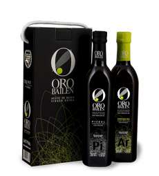 huile d'olive vierge extra Oro Bailen.Estuche 2 botellas 750 ml.