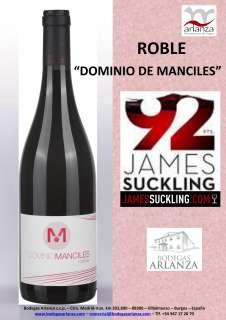Vin rouge Dominio de Manciles, Roble